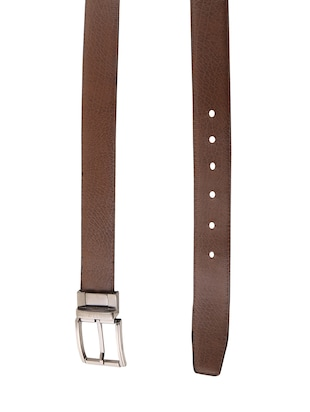 black & brown leatherette reversible  belt - 15432421 - Standard Image - 2