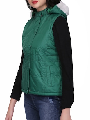quilted & padded hooded jacket - 15432493 - Standard Image - 2