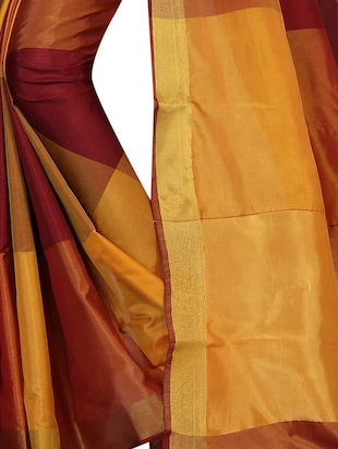 Geometrical Woven Saree with blouse - 15434239 - Standard Image - 2