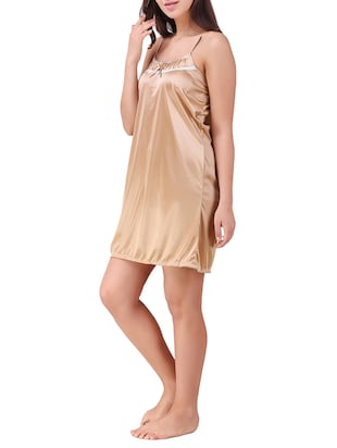 lace trim short nighty - 15434623 - Standard Image - 2