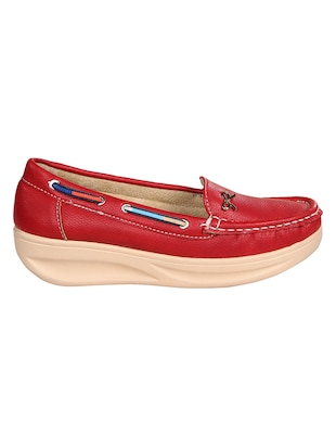 red slip on loafers - 15435162 - Standard Image - 2