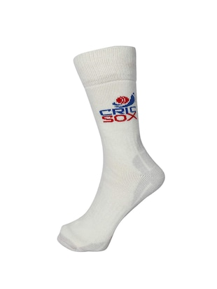 white wool above ankle length sock - 15435679 - Standard Image - 2