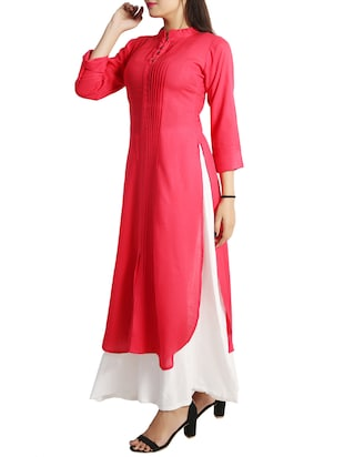 straight pintucks kurta - 15437912 - Standard Image - 2