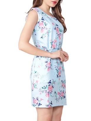 Floral belted sheath dress - 15438006 - Standard Image - 2