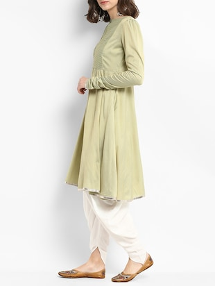 Gota patti kurta with salwar set - 15438250 - Standard Image - 2