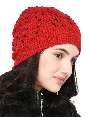 Knitted round cap - 15455810 - Standard Image - 2