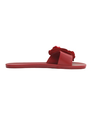 maroon slip on sandals - 15465595 - Standard Image - 2