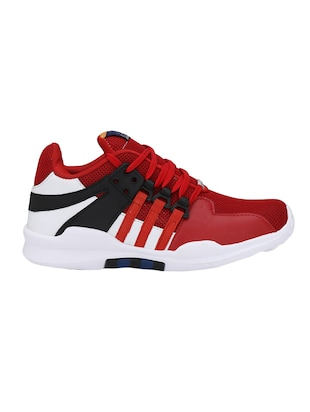 red Mesh sport shoes - 15483103 - Standard Image - 2