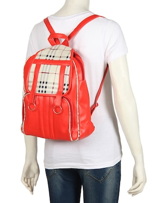 red leatherette (pu) regular backpack - 15488390 - Standard Image - 5