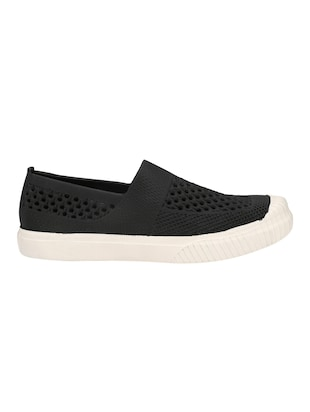 black Rubber casual slip ons - 15488594 - Standard Image - 2