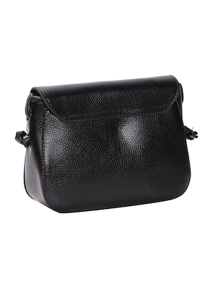 black leatherette (pu) regular sling bag - 15491107 - Standard Image - 2