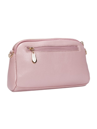 pink leatherette (pu) regular sling bag - 15491138 - Standard Image - 2