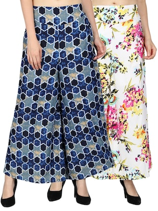 set of 2 printed flared palazzo - 15492089 - Standard Image - 11