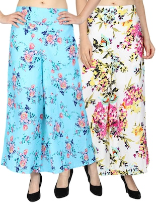 set of 2 floral flared palazzo - 15492090 - Standard Image - 11