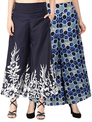 set of 2 printed flared palazzo - 15492100 - Standard Image - 11
