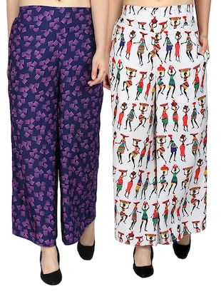 set of 2 printed flared palazzo - 15492113 - Standard Image - 11
