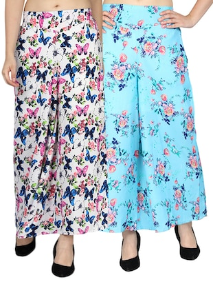 set of 2 printed flared palazzo - 15492124 - Standard Image - 11