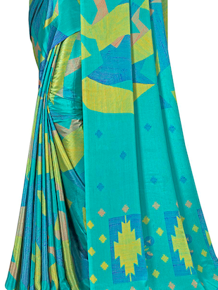 Geometrical printed saree with blouse - 15492215 - Standard Image - 2