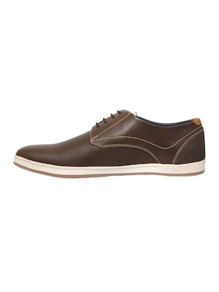 brown Leather lace up shoes - 15492758 - Standard Image - 2