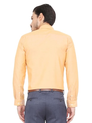 orange cotton blend formal shirt - 15493499 - Standard Image - 2