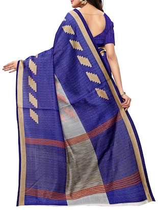 Geometrical printed saree with blouse - 15494214 - Standard Image - 2