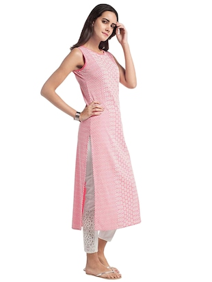 Straight embroidered kurta - 15494773 - Standard Image - 2