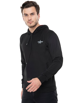 black fleece sweatshirt - 15495540 - Standard Image - 2