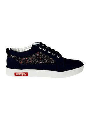 blue lace-up sneakers - 15495980 - Standard Image - 2