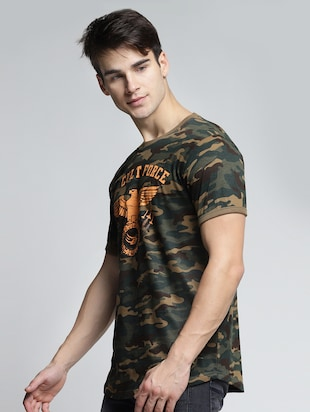 multi colored cotton all over print t-shirt - 15497555 - Standard Image - 2