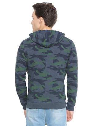blue cotton all over print sweatshirt - 15497759 - Standard Image - 2