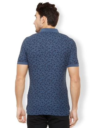 navy blue cotton polo t-shirt - 15497779 - Standard Image - 2