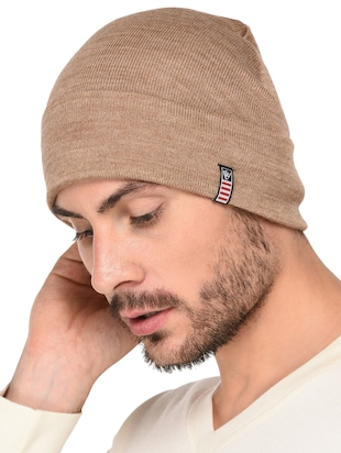 beige wool caps and hat - 15498069 - Standard Image - 2