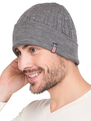 grey wool caps and hat - 15498081 - Standard Image - 2