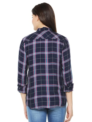 pocket patch checkered shirt - 15498980 - Standard Image - 2