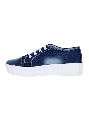 blue lace-up sneakers - 15500144 - Standard Image - 2