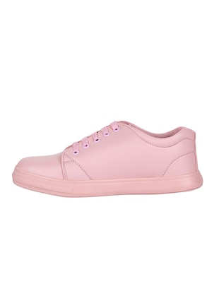 pink lace-up sneakers - 15500156 - Standard Image - 2