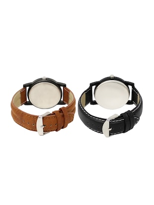ACNOS Round dial analog watch combo(WAT-LR-01-05-COMBO) - 15500322 - Standard Image - 2