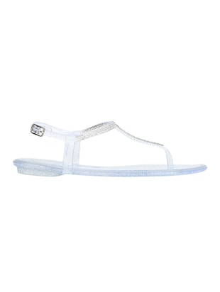 white t-strap sandals - 15502437 - Standard Image - 2
