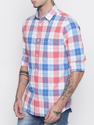 multi colored cotton casual shirt - 15505390 - Standard Image - 2