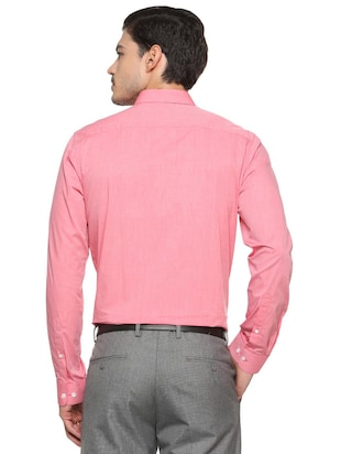 pink cotton formal shirt - 15512474 - Standard Image - 2