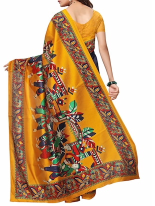 Conversational  border mysore silk saree with blouse - 15518172 - Standard Image - 2