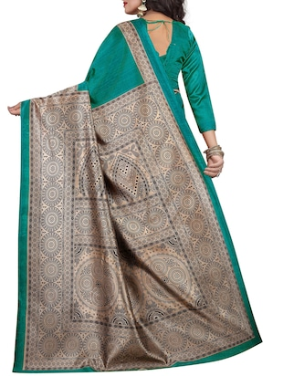 Contrast border mysore silk saree with blouse - 15518194 - Standard Image - 2