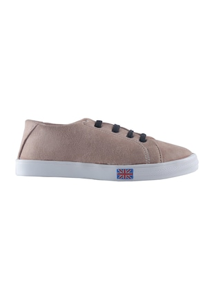 beige lace-up sneakers - 15520357 - Standard Image - 2
