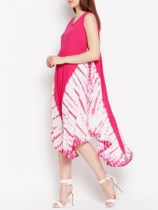tie and dye print tent dress - 15522360 - Standard Image - 2