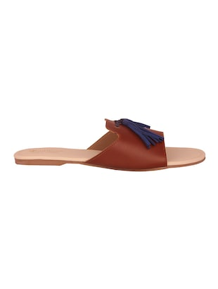 tan slip on sandals - 15526464 - Standard Image - 2