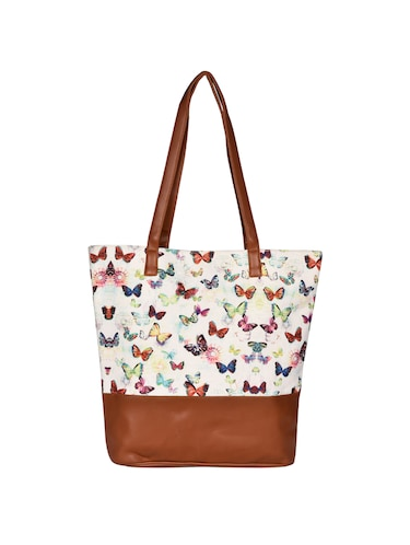 ddca242be77e Buy White Canvas Tote by Anges Bags - Online shopping for Totes in India