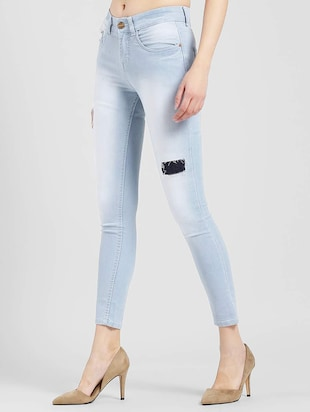 Patched denim stone wash jeans - 15560235 - Standard Image - 2