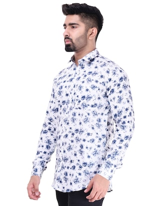 white  cotton casual shirt - 15563597 - Standard Image - 2