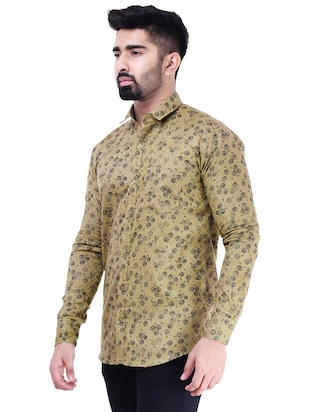 brown cotton casual shirt - 15563612 - Standard Image - 2