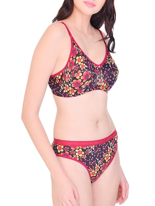floral bra and panty set - 15567905 - Standard Image - 2